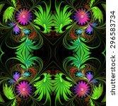 Flower Pattern In Fractal...