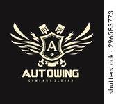 auto wing vector logo symbol   Shutterstock .eps vector #296583773