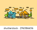 house architecture vector... | Shutterstock .eps vector #296586656