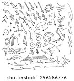 vector hand drawn arrows set... | Shutterstock .eps vector #296586776