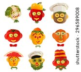 creative set of food concept. a ... | Shutterstock . vector #296589008