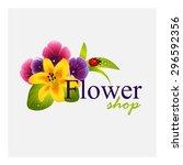 concept identity for flower... | Shutterstock .eps vector #296592356