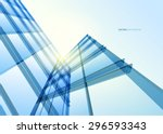 abstract building from the... | Shutterstock .eps vector #296593343