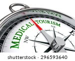 medical tourism sign on concept ... | Shutterstock . vector #296593640