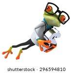 fun frog | Shutterstock . vector #296594810
