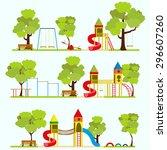playground  kids playground ... | Shutterstock .eps vector #296607260