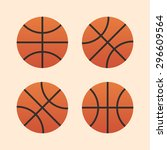 basketball ball icons  modern... | Shutterstock .eps vector #296609564