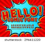 creative high detail comic red... | Shutterstock .eps vector #296611220