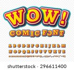 wow. creative high detail comic ... | Shutterstock .eps vector #296611400