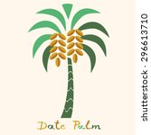 date palm tree. | Shutterstock .eps vector #296613710