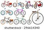 bike set on white illustration   Shutterstock .eps vector #296614340