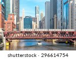 Chicago Downtown And River Wit...