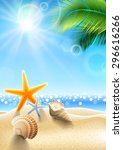 Summer Holidays   Seashell On...