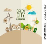 eco friendly. ecology concept... | Shutterstock .eps vector #296629469
