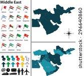 vector of political map of... | Shutterstock .eps vector #296640860
