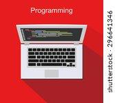programming illustration. flat... | Shutterstock .eps vector #296641346