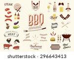 bbq vector elements | Shutterstock .eps vector #296643413