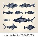 vintage illustration of fish...