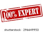 rubber stamp with text one... | Shutterstock .eps vector #296649953