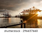 hamburg harbor | Shutterstock . vector #296657660