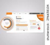 website template. vector... | Shutterstock .eps vector #296658104