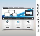 website template. vector... | Shutterstock .eps vector #296658209