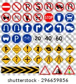 set of simple traffic sign at ... | Shutterstock .eps vector #296659856