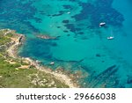 up view of sea water and boat... | Shutterstock . vector #29666038