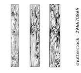 Set Of Wooden Board  Vector...