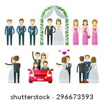 Wedding Icons Set.  Marriage ...