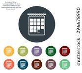 calendar icon | Shutterstock .eps vector #296678990