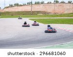 group of karting racer in a... | Shutterstock . vector #296681060