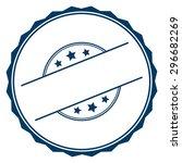 blank blue label  sign  sticker ... | Shutterstock . vector #296682269