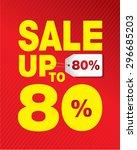 sale set 80  yellow | Shutterstock .eps vector #296685203