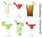 set of vector cocktails in...   Shutterstock .eps vector #296687450