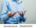 man gesturing | Shutterstock . vector #296693294