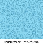seamless pattern of school and... | Shutterstock .eps vector #296693708
