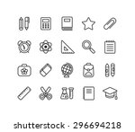 set of school and education... | Shutterstock .eps vector #296694218