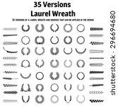 wreath set  wreath collection ... | Shutterstock .eps vector #296694680
