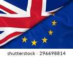 flags of the uk and european... | Shutterstock . vector #296698814