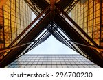 panoramic and perspective wide... | Shutterstock . vector #296700230