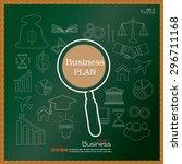 business plan.business concept... | Shutterstock .eps vector #296711168