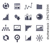 data icon set  | Shutterstock .eps vector #296713544