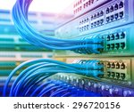 network panel  switch and cable ... | Shutterstock . vector #296720156