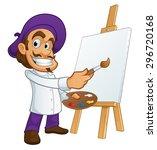 sympathetic painter  he is... | Shutterstock .eps vector #296720168
