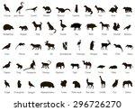 set of animal and bird... | Shutterstock .eps vector #296726270