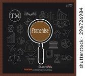 franchise concept.franchise... | Shutterstock .eps vector #296726984