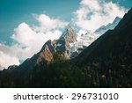 the mountain autumn landscape... | Shutterstock . vector #296731010