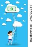 bulb idea two businessman... | Shutterstock .eps vector #296732354