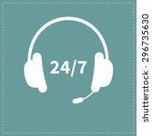 headphones with microphone non...   Shutterstock . vector #296735630